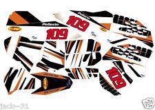 racing KTM SX SXF SX-F SX250 SX450F 250 450 Motocross PLATE Kit vinyl 2007 2010