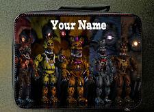 Personalizado personalizado Five Nights At Freddy estilo bolsa de almuerzo Negro 24CM X 18CM