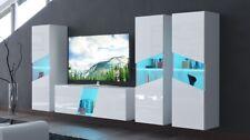 Moderne Wohnwand Schrankwand Hochglanz Wohnzimmer Concept S39 inkl.LED