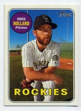 2018 Topps Heritage #76 GREG HOLLAND Colorado Rockies - Baseball Card 1969 STYLE