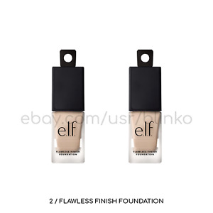 2 Pack / E.L.F. 81391 Snow Oil Free Flawless Finish Foundation Fair Pink Cool