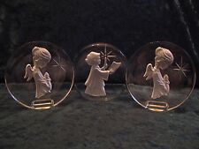 Danbury Mint Christmas Lead Crystal Paperweight Sculptures
