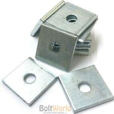 M6 M8 M10 M12 HEAVY DUTY THICK ZINC SQUARE PLATE WASHER, BZP 5mm - 40mm x 40mm