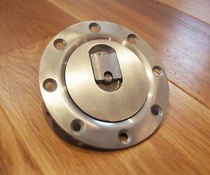 Aero fuel tank gas cap - 120mm x 8 alloy flush mount - non locking