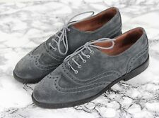 RUSSELL & BROMLEY Grey Suede Leather JEEVES Brogues Loafers, Size UK 4 / EU 37