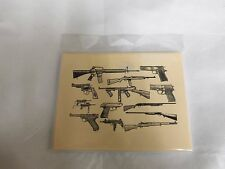GUN COLLAGE DESIGN  BLANK NOTE CARDS   6 count   NEW   RIFLE & PISTOL STATIONERY