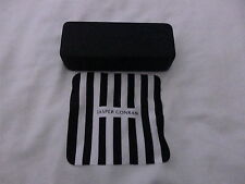 Used - Jasper Conran black glasses case & cleaning cloth - proceeds to charity