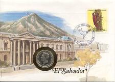 superbe enveloppe EL SALVADOR pièce monnaie 10 centavos 1977 UNC NEW NEUF timbre