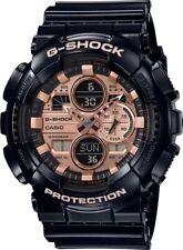 Casio G-Shock *GA140GB-1A2 Rose Gold Dial Glossy Black Resin Watch for Men