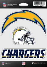 Los Angeles Chargers Triple Spirit 3 Decals Auto Tumbler Laptop Cut to Shape