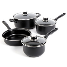 Cooking Pots and Pans Kitchen Carbon Steel Cookware Set 7 Piece PC Non Stick New