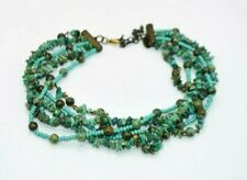 Miriam Haskell Genuine Turquoise Beaded Multi-Strand Choker Necklace
