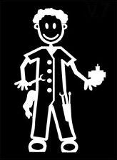 MY STICK FIGURE FAMILY Car Window Stickers M7 Adult Male Mechanic