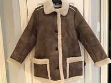 NWT Abercrombie And Fitch Women Faux Shearling Coat Duffle Parka Size M $180!