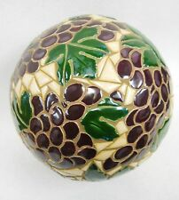 Mosaic Sculpture Accent Ball Tile Art Ceramic Gazing Sphere GRAPE CLUSTERS  8.5""