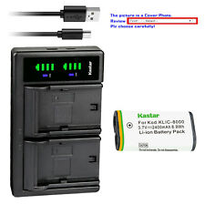 Kastar Battery LTD2 Charger for K8000 Kodak Pocket Video Camera PlaySport ZX1