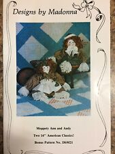 "Craft Mop Doll Pattern ""Moppety Ann & Andy"