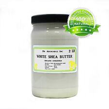 Premium High Quality White Shea Butter Unrefined Raw Pure & Organic 32 oz/2 lb