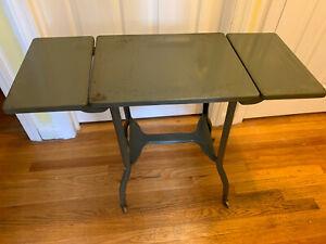 Vintage Metal Typewriter table Drop leaf
