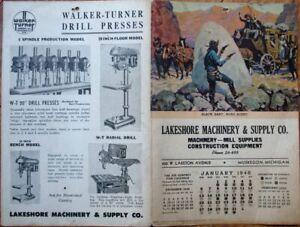 Cowboy/Western 1946 Advertising Calendar: Black Bart, Road Agent - Muskegon, MI