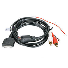 APS AUX CABLE FOR IPOD IPHONE 12V 5V Aux Input Dock to 2 RCA Plug Charger