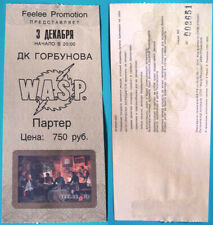 W.A.S.P. - Russian 1st Concert Used Ticket 2004 Tour - RARE!