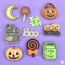 Buttons Galore Halloween Night 4533 - Witches Ghosts Bats Spider Dress It Up