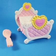 My Little Pony Pink Hearts Crib Baby Bed Nursery 2008 White Yellow Hair Brush