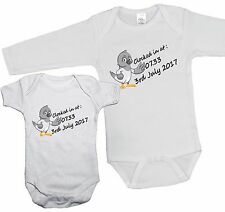 CLOCKED IN AT PERSONALISED Pigeon Racing BABY GROW TIME & DOB babygrow vest bird