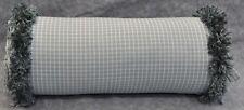 Neckroll Pillow made w Ralph Lauren Seaside Cottage Lane Vineyard Check Fabric