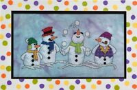 GLENDON PLACE Cross Stitch Pattern Chart SNOW PALS Snowman