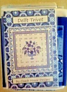 Blue Delft Trivet Quilt Kit by Moda Fabrics