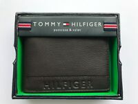 100% AUTHENTIC MENS DESIGNER TOMMY HILFIGER LEATHER WALLET BROWN