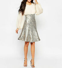 Traffic People Peacock Jacquard Encore party Dress - Cream RRP £92.00-UK 8 Small