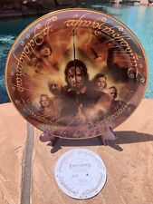 """Danbury Mint Lord of the Rings The Return of the King Large 12"""" Collectors Plate"""