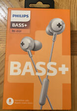Philips SHE4305 BASS+ In Ear Wired Headphones with Mic WHITE NIB SEALED G