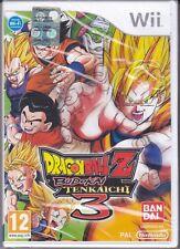Nintendo Wii **DRAGON BALL Z BUDOKAI TENKAICHI 3** nuovo sigillato italiano Pal