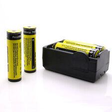 4pc 18650 3.7V 9900mAh Rechargeable Li-ion Battery + 1 Dual Charger Set