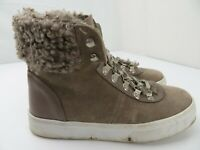 Sam Edelman Luther Suede Faux Shearling Boot Women's Size 6.5 M Tan