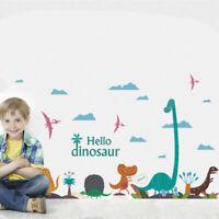 Dinosaur World Vinyl Wall Sticker Decals Kids Boys Girls Nursery Room Decor DIY