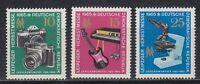 DDR East Germany 1965 ** Mi.1130/32 Messe Fair Fotoapparat Mikroskop Musik