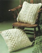 VINTAGE KNITTING PATTERN  TO MAKE CHUNKY CUSHION COVERS