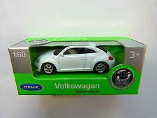 Welly Volkswagen VW Nuevo Beetle blanco en 1:60 nuevo & OVP