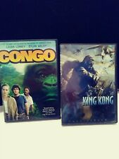 New Listing Lot of 2 Dvd's King Kong Full Screen Edition and Congo Gorilla Ape Movies