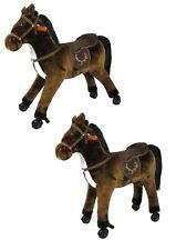 Reitpferd stabiles Pferd aus Plüsch mit Rollen und Sound NEU 227279
