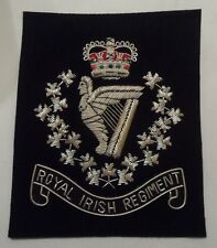 Royal Irish Regiment Blazer Badge, RIR, Wire, Army, Jacket, Military, Uniform