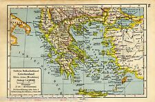 Antique map Greece / Asia Minor 1940 Griechenland karte
