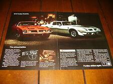 1975 PONTIAC TRANS AM ***ORIGINAL 2 PAGE AD***