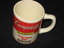 CAMPBELL'S VEGETABLE BEEF SOUP ORIGINAL VINTAGE DRINKING SOUP MUG
