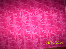 New Pink Camo 100% cotton flannel fabric by the yard (Camouflage) Fabri-Quilt